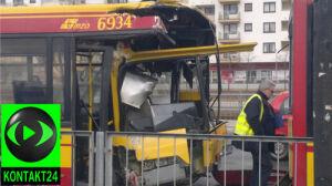 Wypadek trzech autobusów Wpadały jeden na drugiego