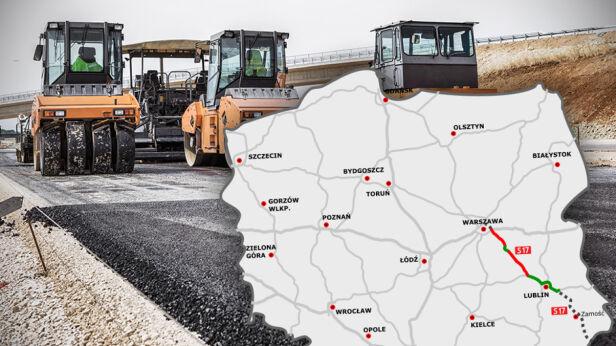 Budowa S17: rozpoczęły się prace na odcinku Kurów-Skrudki  Shutterstock, Wikipedia