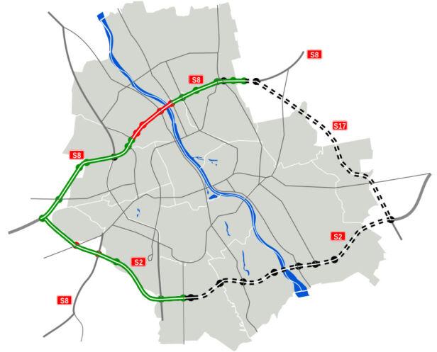 Planowana obwodnica Warszawy Wikipedia /cc by sa