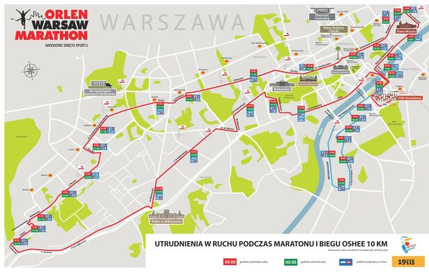 Utrudnienia w ruchu podczas maratonu materiały prasowe