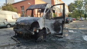 Spłonął bus przewożący niepełnosprawne dzieci