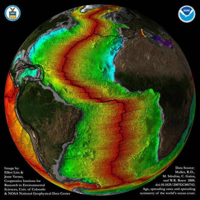 Bierna krawęź na Oceanie Atlantyckim staje się akrtywna (NOAA)