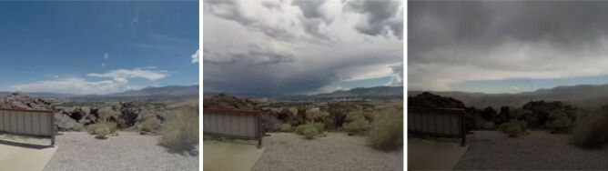 Microburst nad Nevadą. Wiało z prędkością 115 km/h