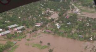 Zalania w Mozambiku po przejściu cyklonu tropikalnego Eloise